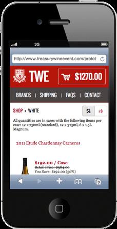 Wine Event on iPhone 4