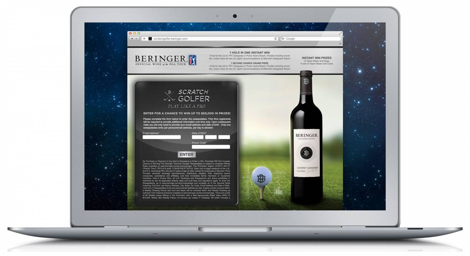 Beringer Scratch Golfer Sweepstakes